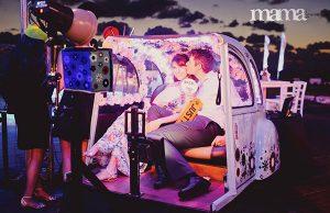 אטרקציה מיוחדת לחתונה בחצי רכב